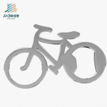 Abridor de garrafa relativo à promoção do metal do presente da forma de aço inoxidável feita sob encomenda da bicicleta