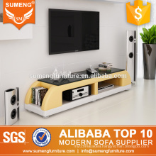 Sumeng fashion style handmade hotel furniture used pvc tv stand