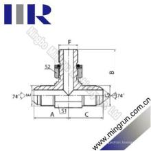 Jic Mâle / Bsp O-Ring Direction Hydraulique Tee Adaptateur (AJGJ-OG)