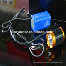 Luz da bicicleta, luz conduzida da bicicleta, bateria recarregável da tocha