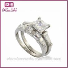 China quente venda de diamantes de qualidade fina de aço inoxidável jóias anéis