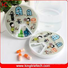 Caixa de comprimidos redonda de 7 dias (KL-9066)