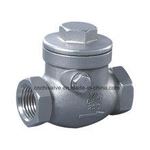 H14 Válvula de retenção de rosca de aço inoxidável