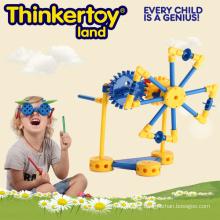 Opération de machinerie de moulin à vent par Gear Construction Toy for Boy