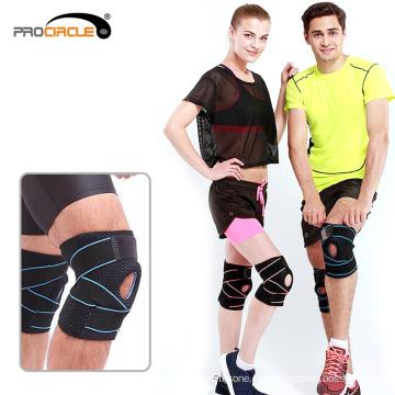 Soporte de rodilla ajustable de compresión de protección de atletismo