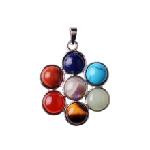 Yoga Chakra Rainbow Pendant Necklace Making Jewelry