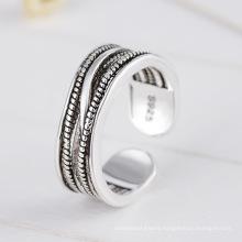 Right Grand Brass irregular twisted cross shape open size ring for men
