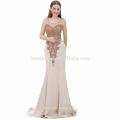 Изысканное Платье Без Рукавов Цвет Шампанского Русалка Большой Размер Женщин Платье Вечернее Платье