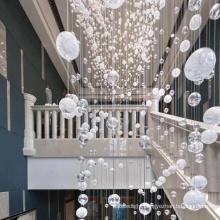 Classic Bubble Wedding Crystal White Globe Light Chandelier