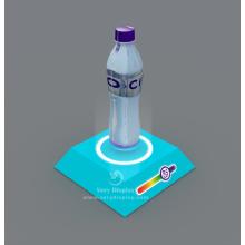 Visor de levitação de garrafa de água mineral