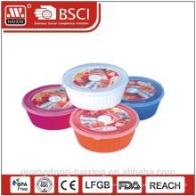 Produits en plastique ronde micro-ondes alimentaires Container(2.55L)