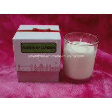 Bougie parfumée de luxe de myrtille avec l'emballage de boîte-cadeau