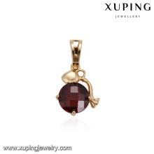 32879 Hot sale beautiful ladies jewelry circle shaped colorful cubic zircon prong set pendant