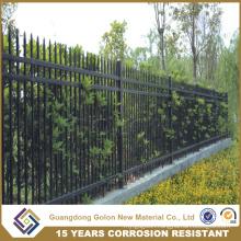 Powder Coated Fence Steel Panel, Modular Metal Fence
