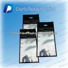 O saco de empacotamento da tampa quente plástica do telefone móvel da venda / sacos de empacotamento ziplock com janela clara / ziplock ensaca