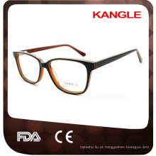 quadros de óculos de cores sólidas unisex de três camadas