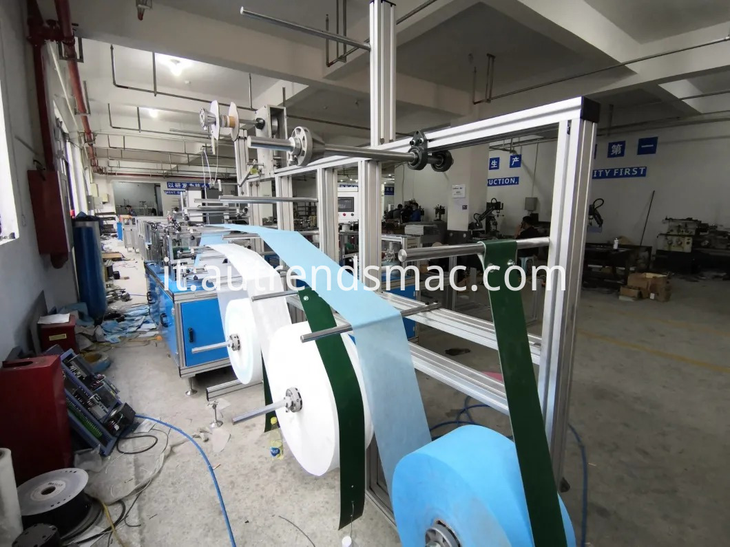 Semi-Auto Flat 3ply Face Mask Disposable Mask Making Machine with Ear-Loop Welder (9)