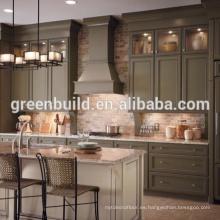 Diseño de gabinete de cocina de laca de madera de nogal