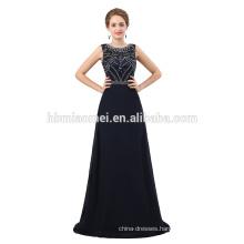 Latest design handmade beaded dark blue formal evening party gown
