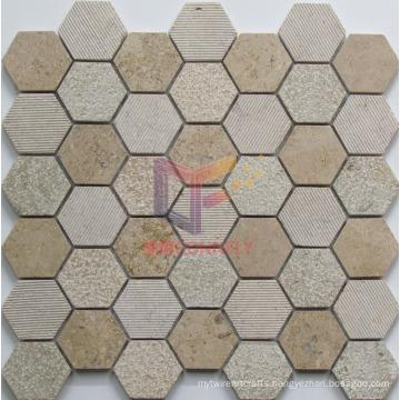 Hexagon Marble Mosaic (CFS1045)