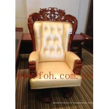 Chesterfield Leather Chinese Dragon Carving Boss PDG président président du bureau exécutif (FOHA-08)