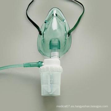 Máscara desechable médica de oxígeno con nebulizador y tubo