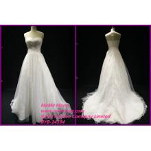 Кружева ткань для свадебные платья иллюзия вернуться кружева платье милая свадебные платья БЫБ-14594 для новобрачных
