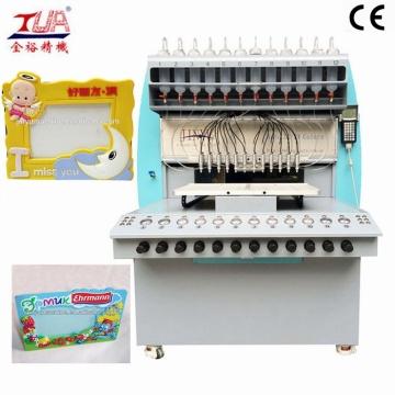 Máquina distribuidora de padrão de superfície de moldura de foto necessária