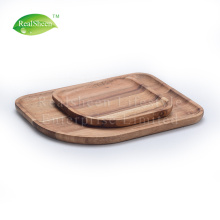 Conjunto de 2pcs Acacia Wood Serving Plate