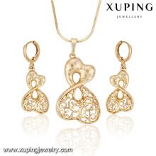 63917 Xuping fashion nouveau conçu femmes plaqué or set bijoux