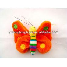 Plush butterfly stuffed fridge magnet