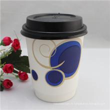 Tasse faite sur commande de papier peint de mur de 6oz / tasse de papier de café / tasse chaude de boisson