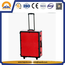 Waterproof Case Fashion Trolley Makeup Case W/ Lights