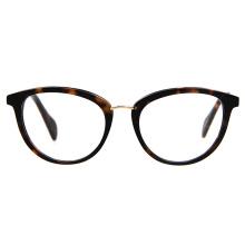 Custom High-end Fashion Acetate Eyewear Frame Unisex Metal Bridge Gafas Modernas
