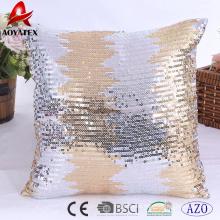 2018 latest design sequins home decorative cushion,embroidered cushion