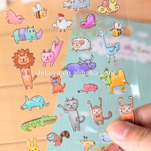 Custom cartoon promotional epoxy stickers decorative stickers