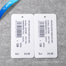 Factory Price Paper Tag/Swing Tag for Clothing Tag