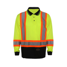 2016 Long Sleeve Reflective Safety Polo Shirt