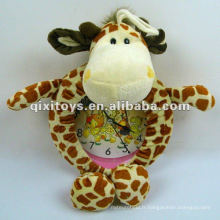 belle horloge animal en peluche