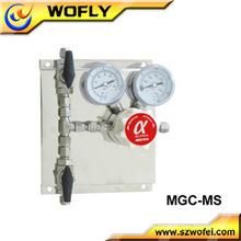 Regulador de pressão traseira em aço inoxidável para gás