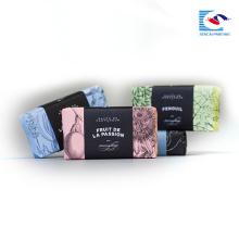 Caja de papel simple personalizada impresa para jabón perfumado y embalaje de regalo con