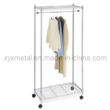 Chrome Garment Rack Wire Regale