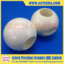Válvula de bola cerámica de Zirconia de mecanizado de precisión
