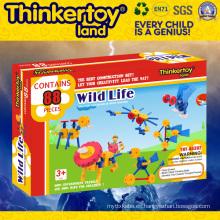 Juguete del edificio del final abierto de DIY de los niños 3+ de Thinkertoyland