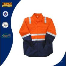 En471 Niños Algodón Naranja Amarillo Rosa Alta Vis Protect camisa de seguridad