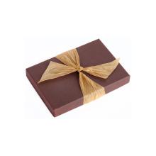 Caixa de embalagem de papel de arte de chocolate personalizada extravagante