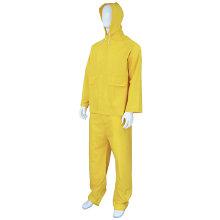 Combinaison résistante jaune imperméable de manteau de pluie de PVC