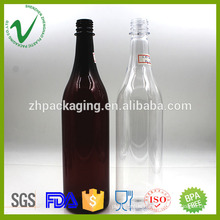 cylinder empty food grade disposable plastic wine bottle stoppers 800ml