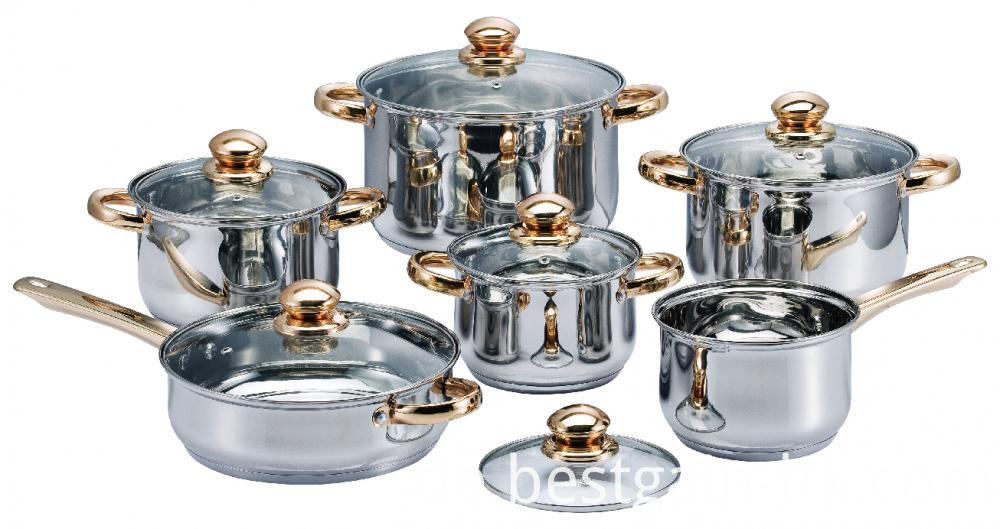 Cookware Set with Tight-fitting Glass Lid