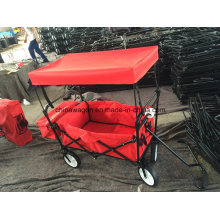 Red Color Handy Wagon with Canopy